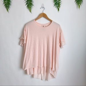 Free People / We the Free • Pink Cloud Nine Tee